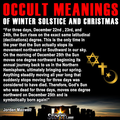 The Truth About Christmas.Occult Meanings Of Winter Solstice And Christmas The Truth